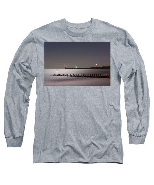 Aberdeen Beach At Night Long Sleeve T-Shirt