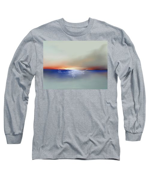 Abstract Beach Sunrise  Long Sleeve T-Shirt by Anthony Fishburne