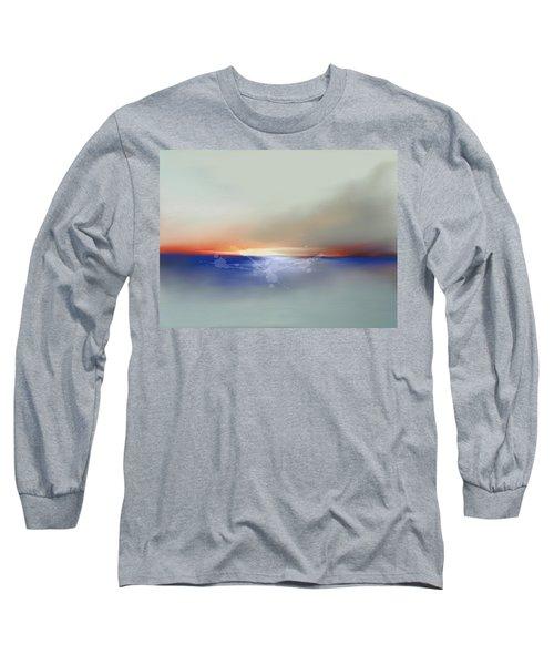 Abstract Beach Sunrise  Long Sleeve T-Shirt