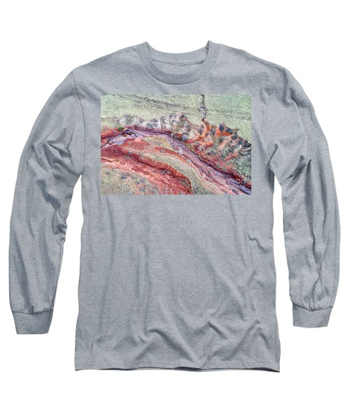 aerial landscape abstract of Colorado foothills Long Sleeve T-Shirt