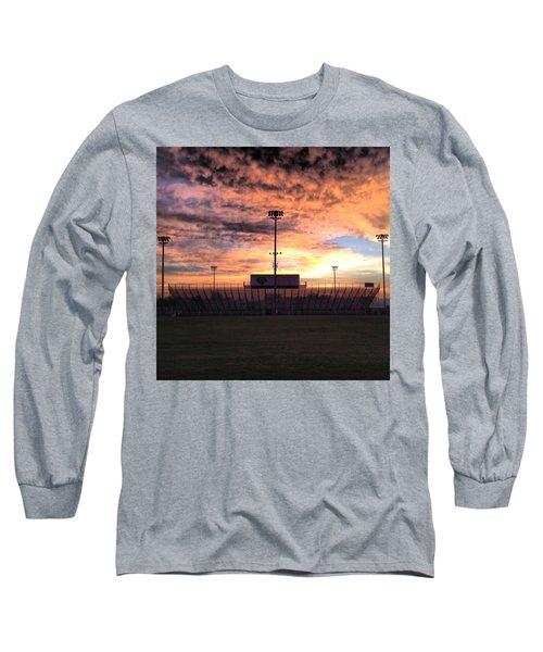 Alma High School Don Miller Field Sunrise Bleachers Long Sleeve T-Shirt