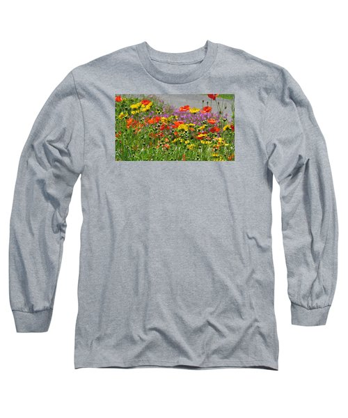 Along The Road Long Sleeve T-Shirt by Jeanette Oberholtzer