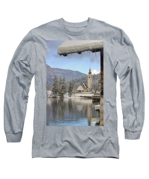 Long Sleeve T-Shirt featuring the photograph Alpine Winter Clarity by Ian Middleton