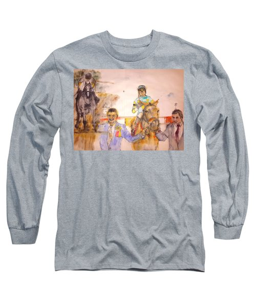 Long Sleeve T-Shirt featuring the painting American Pharaoh Abum by Debbi Saccomanno Chan