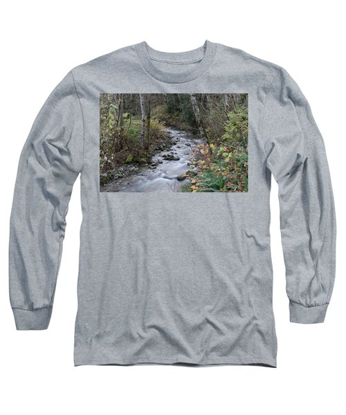 Long Sleeve T-Shirt featuring the photograph An Autumn Stream by Jeff Swan