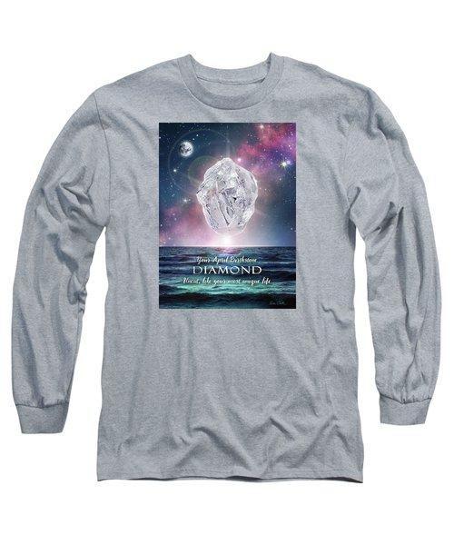 April Birthstone Diamond Long Sleeve T-Shirt