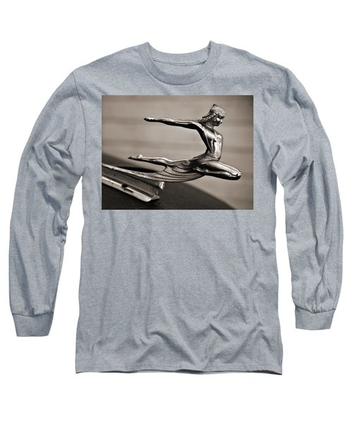 Art Deco Hood Ornament Long Sleeve T-Shirt by Marilyn Hunt