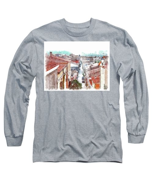 Arzachena View Of The Corso Garibaldi Long Sleeve T-Shirt