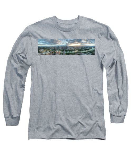 Austin Cityscape Long Sleeve T-Shirt by Andrew Nourse