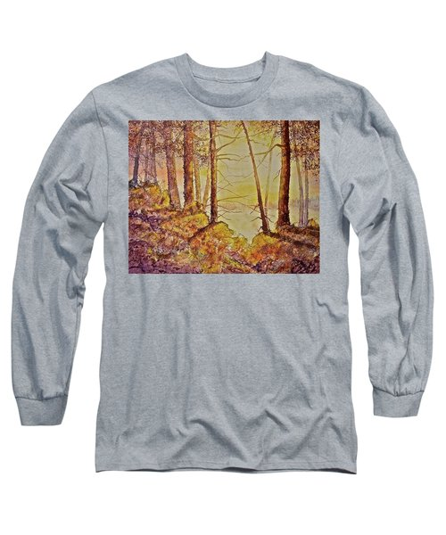 Long Sleeve T-Shirt featuring the painting Autumn Glow by Carolyn Rosenberger