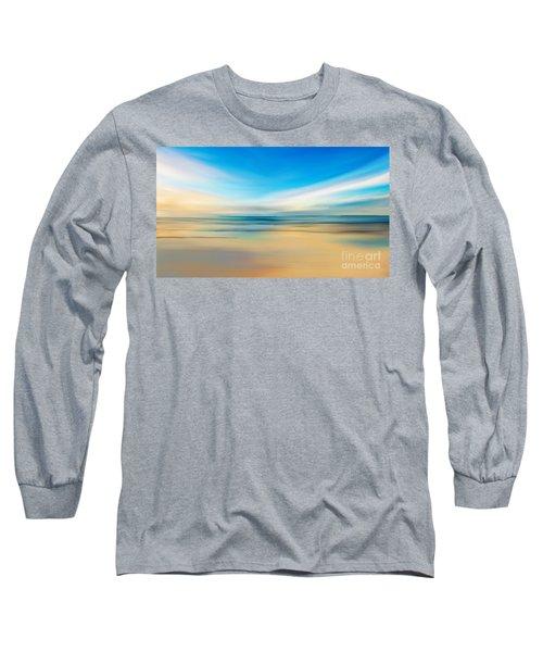 Long Sleeve T-Shirt featuring the digital art Beach Sunrise by Anthony Fishburne