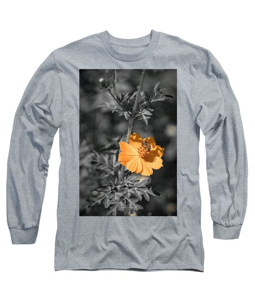 Bee On Flower Long Sleeve T-Shirt