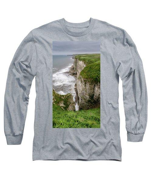 Bempton Cliffs Long Sleeve T-Shirt by Nigel Wooding