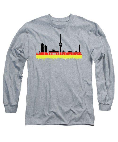 Berlin Skyline Long Sleeve T-Shirt by Solomon Barroa