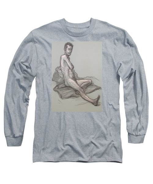 Bert Seated Long Sleeve T-Shirt by Donelli  DiMaria