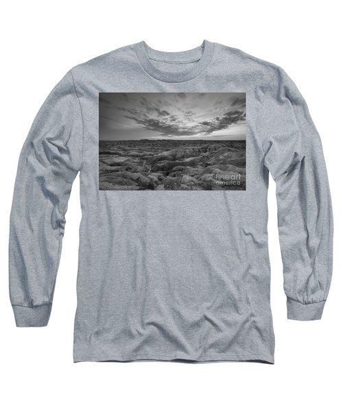 Bigfoot Overlook Sunset At Badlands South Dakota Long Sleeve T-Shirt