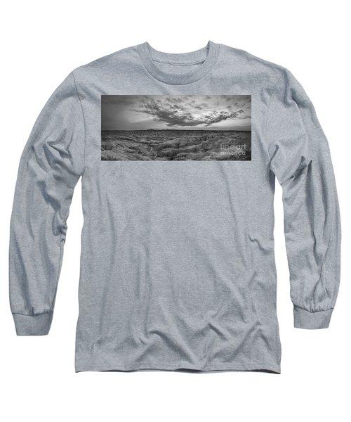 Bigfoot Overlook Sunset Panorama Long Sleeve T-Shirt