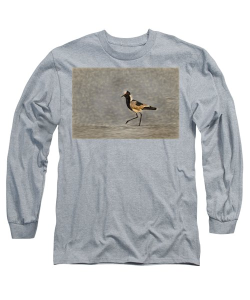 Black-winged Lapwing Art Long Sleeve T-Shirt by Kay Brewer