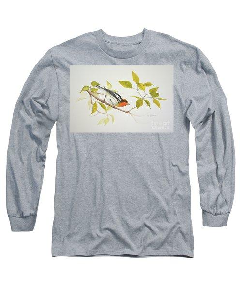 Blackburnian Warbler Long Sleeve T-Shirt