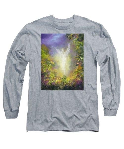 Blessing Angel Long Sleeve T-Shirt by Marina Petro