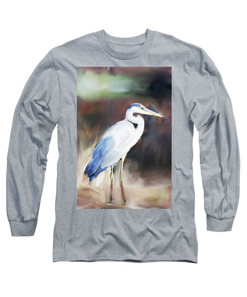 Blue Heron Painting  Long Sleeve T-Shirt