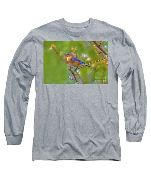 Bluebird Long Sleeve T-Shirt by Marion Johnson