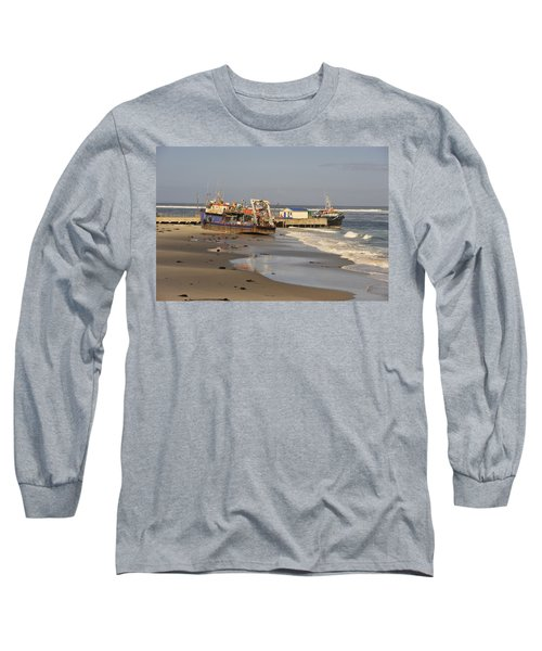 Boats Aground Long Sleeve T-Shirt by Patrick Kain