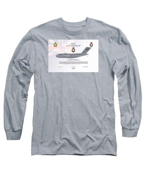 Long Sleeve T-Shirt featuring the digital art Boeing C-17 Globemaster IIi by Arthur Eggers