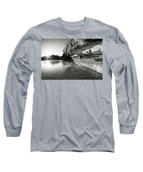 Bouldering Above River Long Sleeve T-Shirt