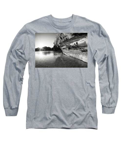 Bouldering Above River Long Sleeve T-Shirt
