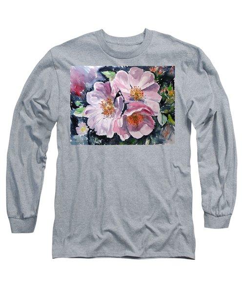 Long Sleeve T-Shirt featuring the painting Briar by Kovacs Anna Brigitta