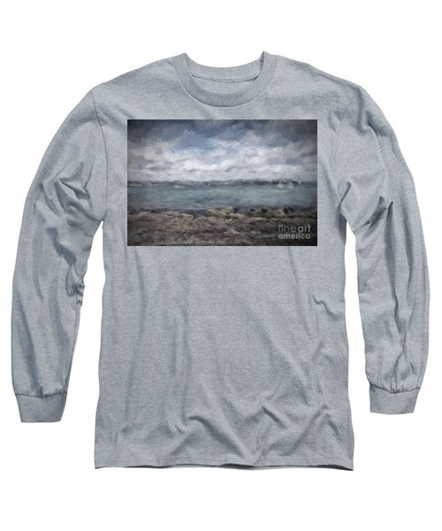 Long Sleeve T-Shirt featuring the photograph Brixham Harbour by Patricia Hofmeester