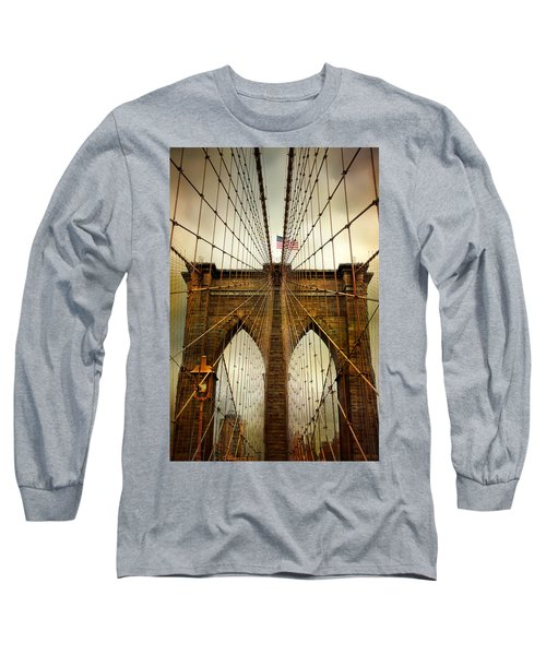 Brooklyn Bridge Twilight Long Sleeve T-Shirt