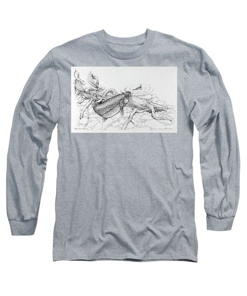 Brown Trout Pencil Study Long Sleeve T-Shirt