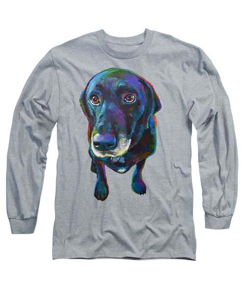 Buddy The Black Labrador Long Sleeve T-Shirt