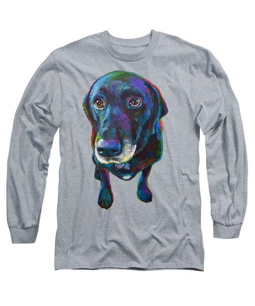 Buddy The Black Labrador Long Sleeve T-Shirt