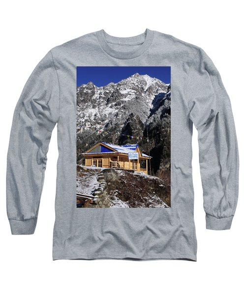 Long Sleeve T-Shirt featuring the photograph Meeting Point Mountain Restaurant by Aidan Moran