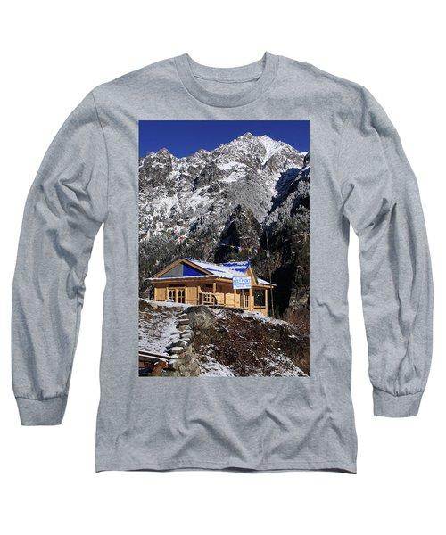 Meeting Point Mountain Restaurant Long Sleeve T-Shirt by Aidan Moran