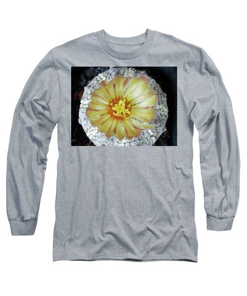 Cactus Flower 2 Long Sleeve T-Shirt by Selena Boron