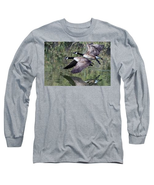 Canada Geese Long Sleeve T-Shirt by Tam Ryan
