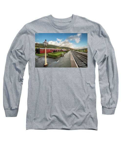 Long Sleeve T-Shirt featuring the photograph Carrog Railway Station by Adrian Evans