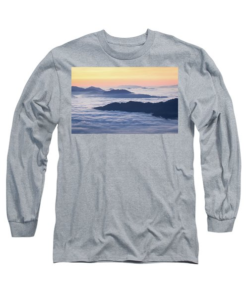 Cataloochee Valley Sunrise Long Sleeve T-Shirt by Serge Skiba