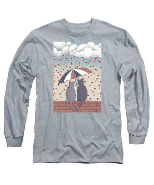 Cats In Love Long Sleeve T-Shirt by Anne Gifford