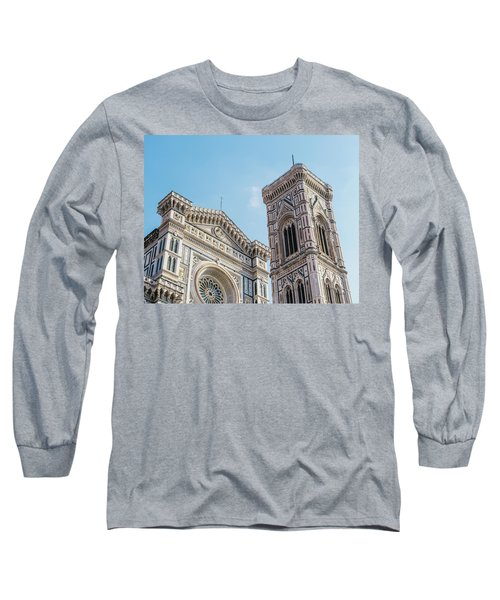 Cattedrale Di Santa Maria Del Fiore Is The Main Church Of Floren Long Sleeve T-Shirt