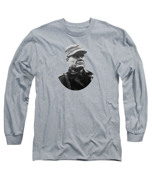 Chesty Puller Long Sleeve T-Shirt by War Is Hell Store