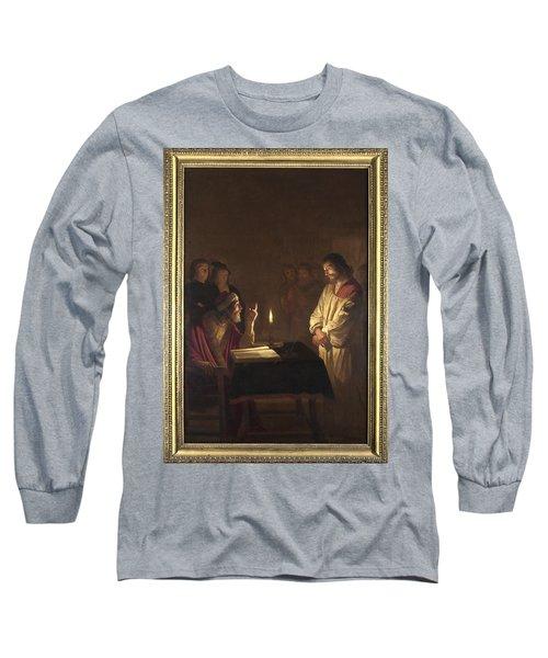 Christ Before The High Priest Long Sleeve T-Shirt by Gerrit van Honthorst