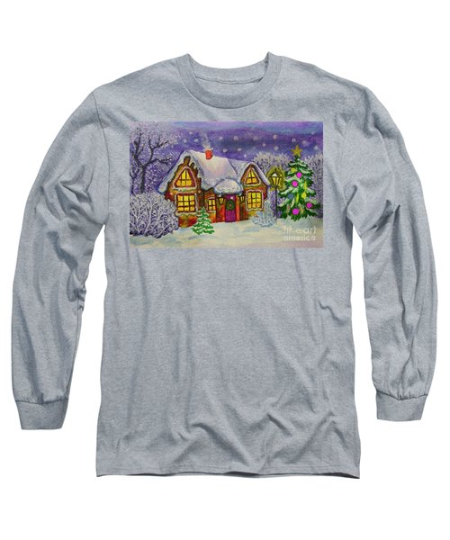 Christmas House, Painting Long Sleeve T-Shirt