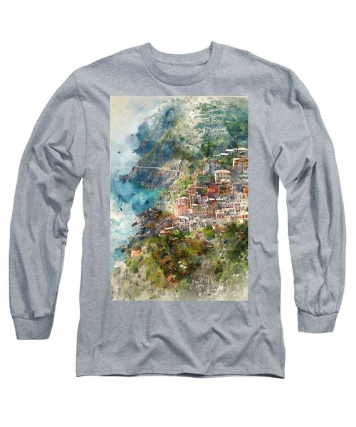 Cinque Terre In Italy Long Sleeve T-Shirt