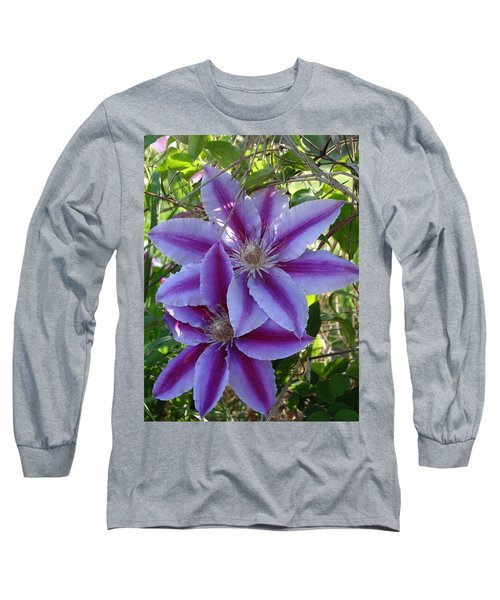 Clematis Petals Long Sleeve T-Shirt