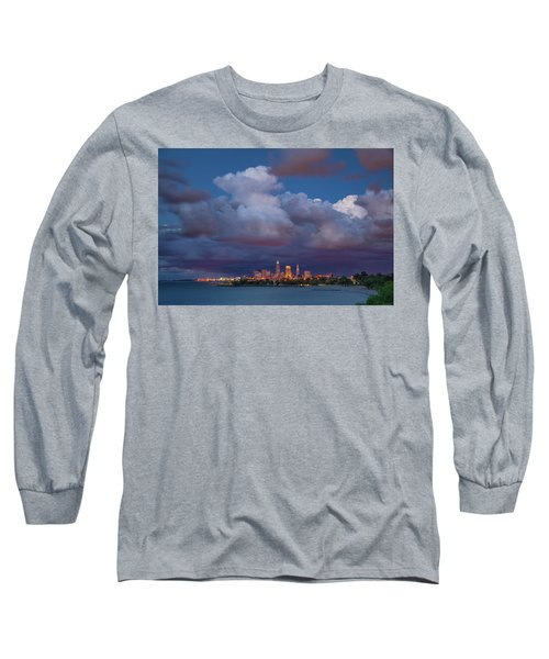 Long Sleeve T-Shirt featuring the photograph Cleveland Skyline  by Emmanuel Panagiotakis
